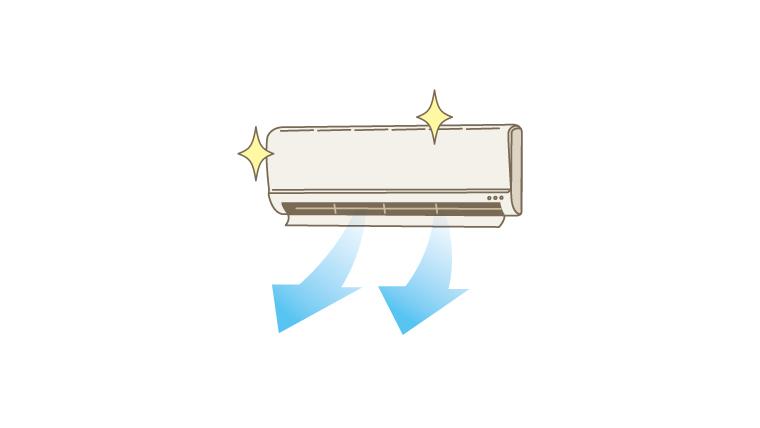 エアコン掃除は分解できるところまでしています。夏の来る前に。